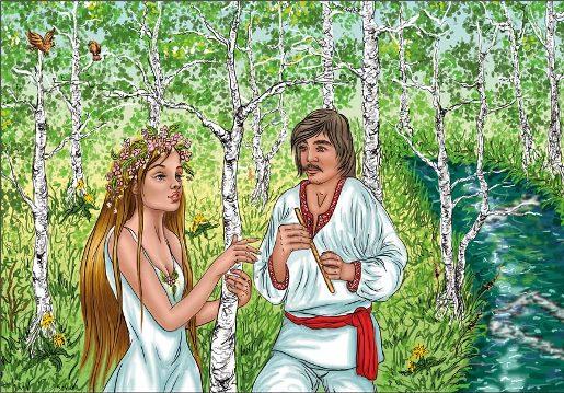 """Ілюстрація до драми """"Лісова пісня"""""""
