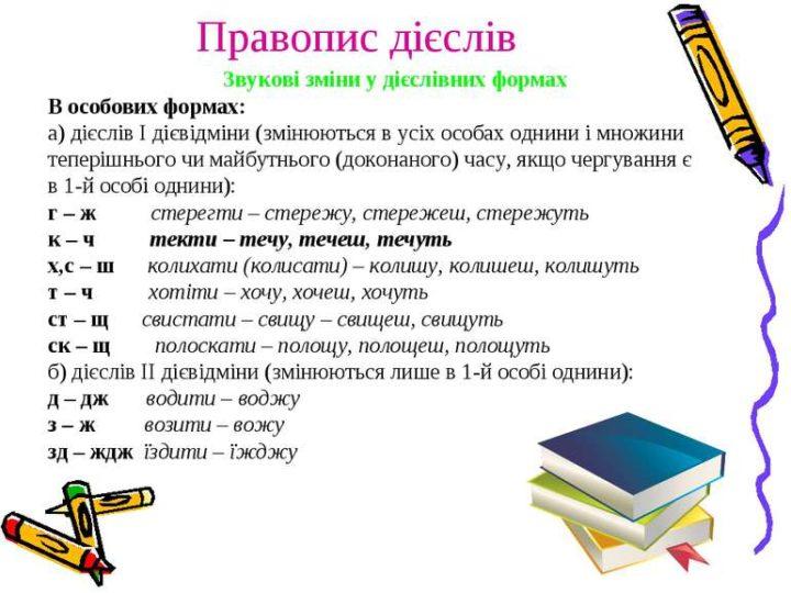 Чергування приголосних в особових формах дієслова