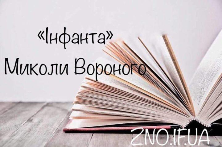"""Аналіз вірша """"Інфанта"""" Миколи Вороного"""