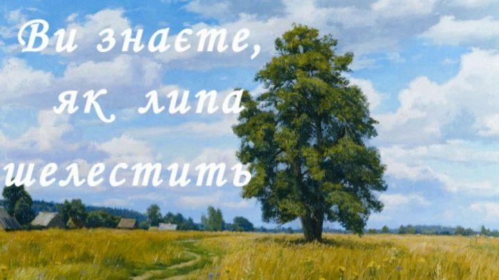 """Аналіз поезії Павла Тичини """"Ви знаєте, як липа шелестить…"""""""