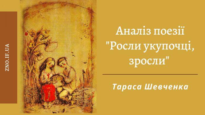 """Аналіз поезії """"Росли укупочці, зросли"""" Тараса Шевченка"""